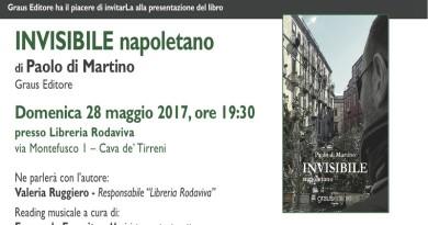 """Cava de' Tirreni. """"L'Invisibile Napoletano"""" di Paolo di Martino alla libreria """"Rodaviva"""""""