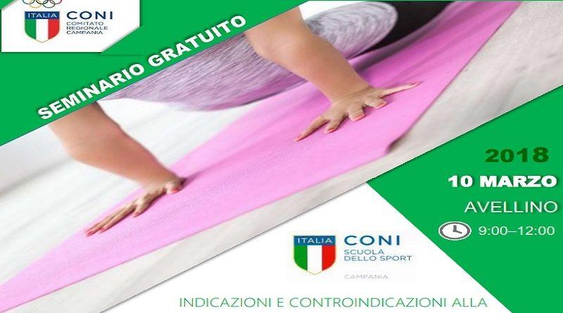 """Avellino sabato 10 marzo presso la sede del Coni il seminario dal titolo: """"Indicazioni e controindicazioni alla pratica dello stretching"""""""