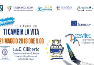 """Domani a Monte Sant'Angelo il convegno """"Erasmus+: il viaggio che ti cambia la vita"""""""
