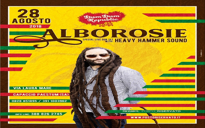 Risultati immagini per ALBOROSIE Unbreakable Live Dub Set - Unica data in Campania -