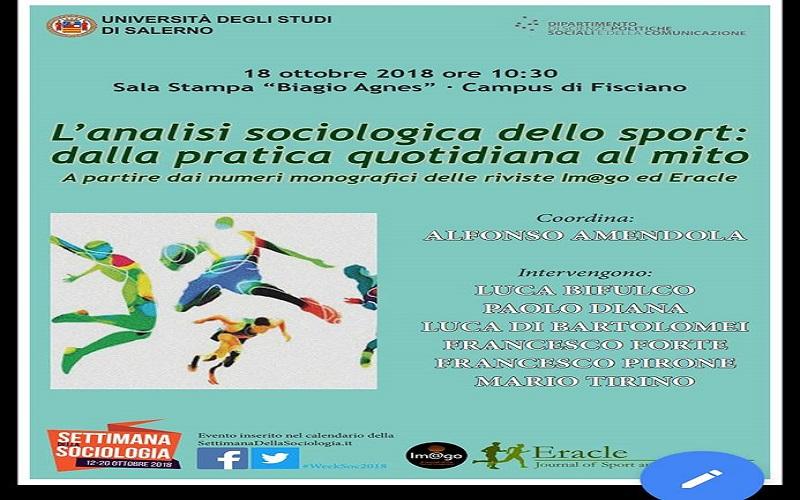 Calendario Unisa.Settimana Della Sociologia Ad Unisa Incontro Sullo Sport