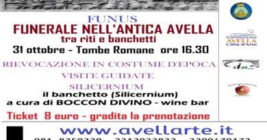 """Avella, il 31 ottobre la rievocazione in costume d'epoca: """"Funus,il funerale nell'antica roma"""""""