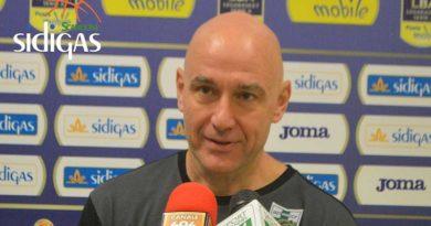 """Sidigas, Vucinic: """"Domenica dovremo avere una reazione, finalmente giochiamo davanti al nostro pubblico"""""""